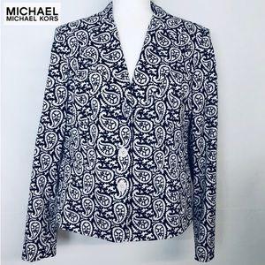 Michael Kors Black and White Plus Size Blazer